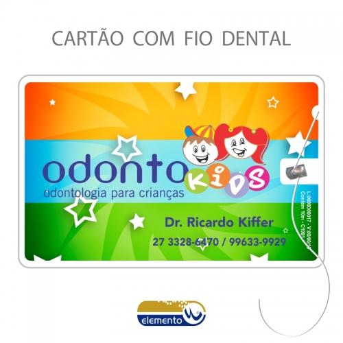 Fiocard - cartão com fio dental - Odontopediatra