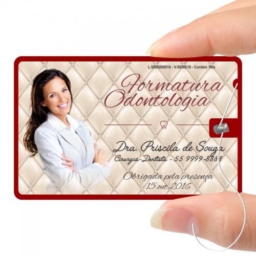 Fiocard - card c/ fio dental - para formandos