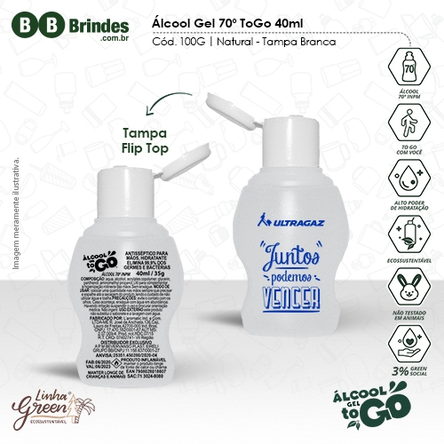 Álcool Gel 70 ToGo 40ml