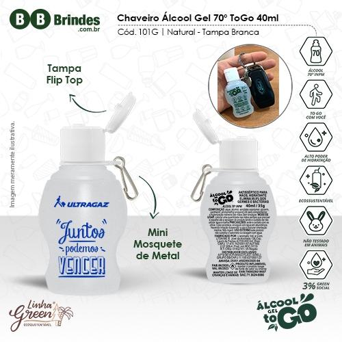 Chaveiro Álcool Gel 70 ToGo 40ml