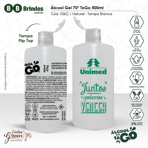 Álcool Gel 70 ToGo 500ml