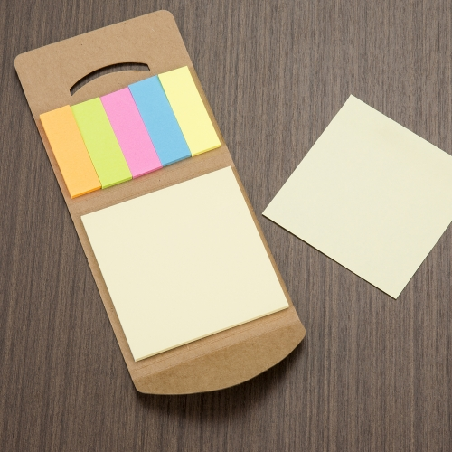 MINI BLOCO DE ANOT. ECOLOGICO C/ POST-IT