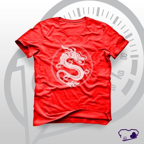 Camiseta Vermelha em Silkscreen