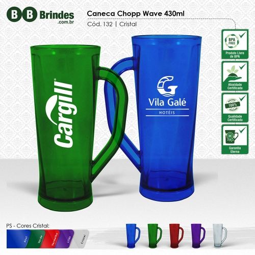 Caneca Chopp Wave 430ml
