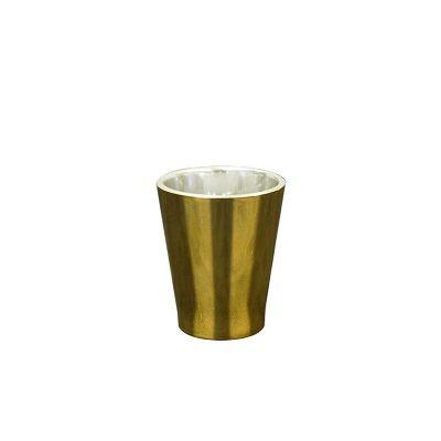 Copo dose metalizado dourado