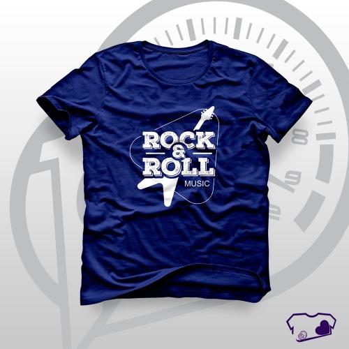Camiseta Azul Marinho em Silkscreen