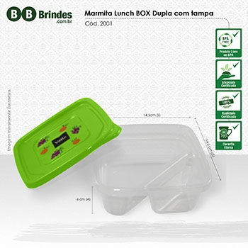 Marmita Lunch BOX dupla com Tampa