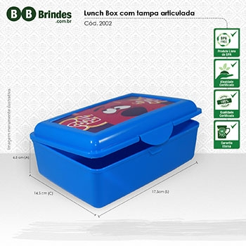 Marmita Lunch Box com tampa articulada