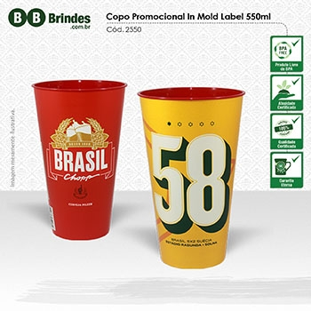 Copo Promocional in Mold Label 550mL