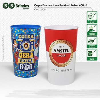 Copo Promocional in Mold Label 600mL