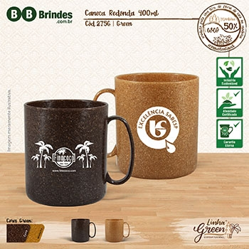 Caneca redonda 400mL GREEN