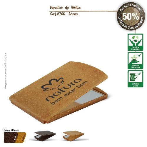Espelho de Bolsa Ecológico de fibras da casca do coco ou de resíduos de madeira