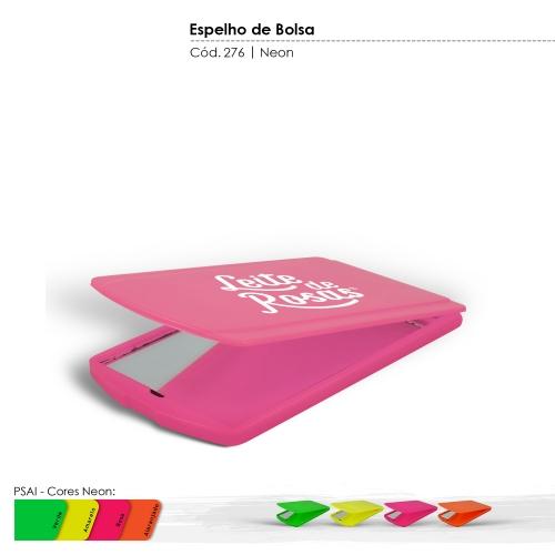 Espelho de Bolsa de Plástico Resistente com Tampa de Proteção Articulada cores Neon
