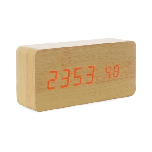 Relógio de Madeira com Display LED - 18563