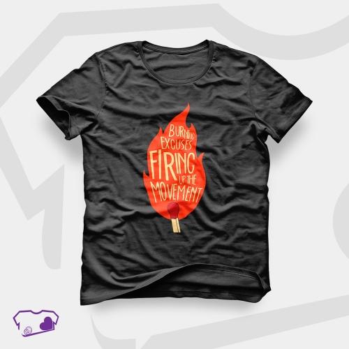 Camiseta Preta em Silkscreen