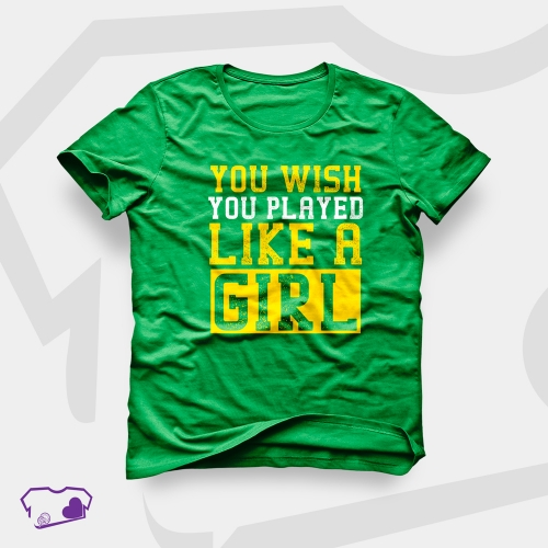 Camiseta Verde em Silkscreen