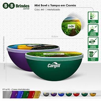 Mini Bowl c Tampa em Cromia