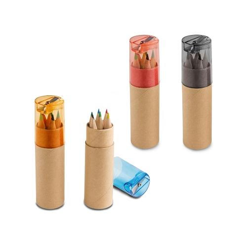Caixa com mini lápis de cor