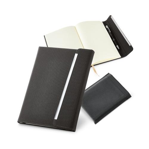 Caderno couro sintético