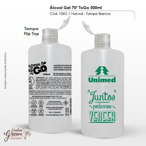 Álcool em Gel 70% de 500ml regulamentado pela ANVISA personalizado com seu logo