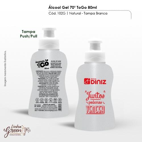 Álcool em Gel 70% de 80ml regulamentado pela ANVISA personalizado com sua marca
