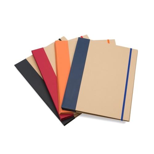 Bloco de anotações ecológico estilo pasta