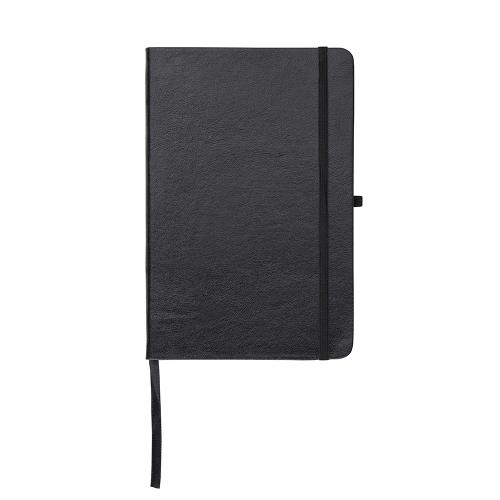 Caderneta tipo Moleskine de Couro Sintético 21 x 14 com Pauta