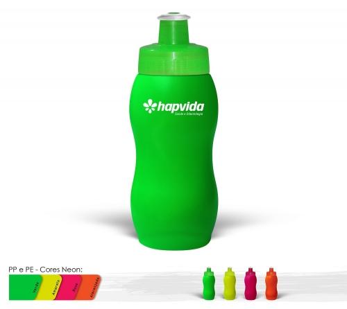 Squeeze 250ml Resistente e Flexível com Bico de PVC Cristal
