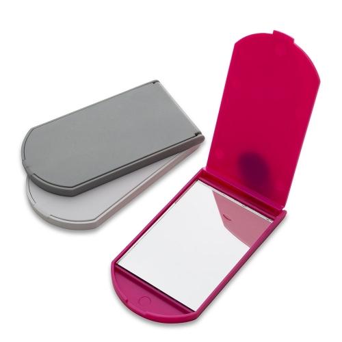 Espelho plástico formato brasão.