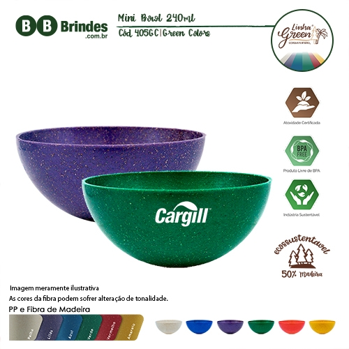 Mini Bowl Green Colors 240ml