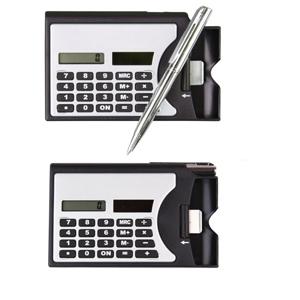 Calculadora Porta Cartão com caneta