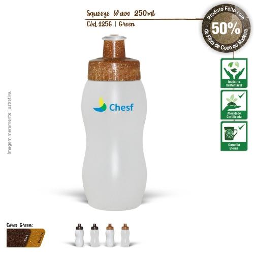 Squeeze Ecológico 250ml Resistente e Flexível com Bico de PVC Cristal