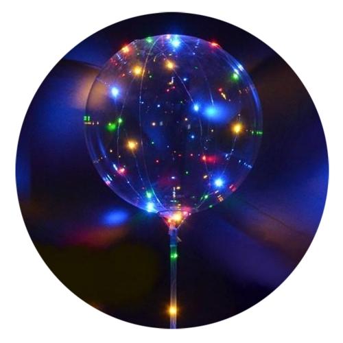 Balão com Luz LED - Bubble / Unicórnio / Coração - Hutz