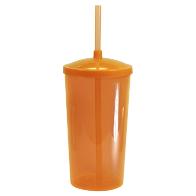 Copão 1 litro com tampa e canudo