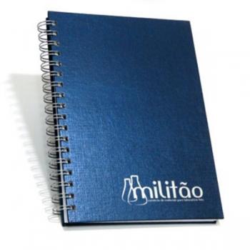 Caderno Escovado Azul 17×24 cm