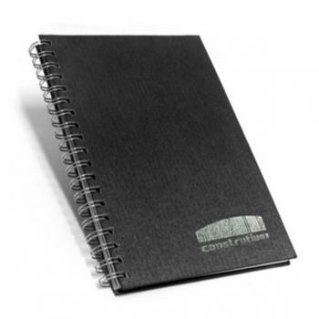 Caderno Escovado Preto 17×24 cm