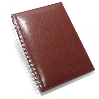 caderno couro sintetico 17x24 CM