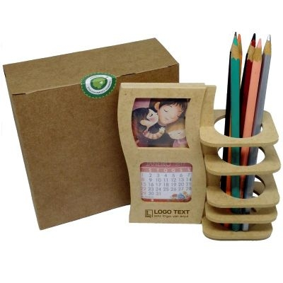 Porta Lápis e Calendário de mesa Película