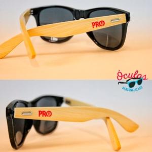 Óculos de Sol Hastes Bambu - Personalizado