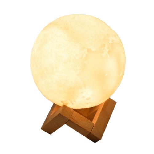 Luminária Abajur Led Lua 12Cm Recarregável - Hutz