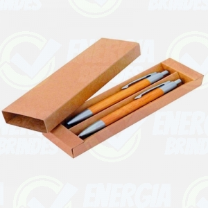 Conjunto Ecológico Caneta e Lapiseira Personalizadas