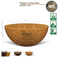 Pestisqueira Futebol Ecológica de Fibra de Coco ou Madeira 240ml