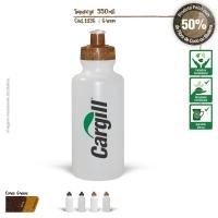 Squeeze Ecológico 550ml Resistente e Flexível com Bico de PVC Cristal